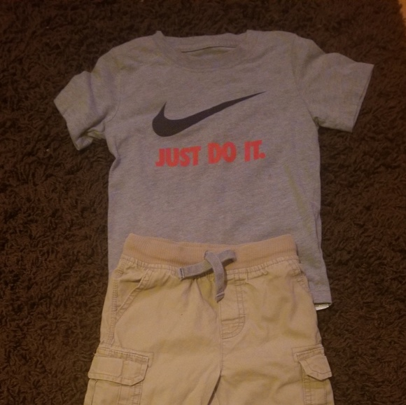 Air Jordan Set Boys Shirt Shorts 3T 4T Dark Gray